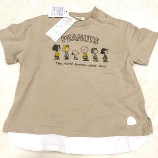 petit main - スヌーピー   半袖Tシャツ