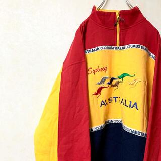 ハーフジップ トレーナー スウェット 90年代 USA古着 オーストラリア製(スウェット)
