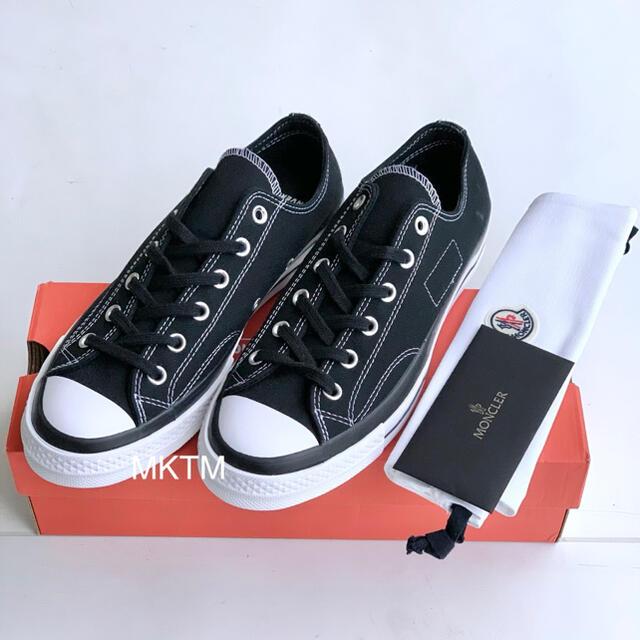 CONVERSE(コンバース)の26.5cm 7 Moncler Fragment CT70 OX 黒 袋付き メンズの靴/シューズ(スニーカー)の商品写真