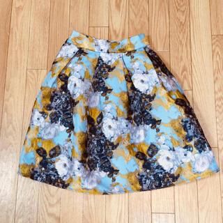 ラミア(LAMIA)の【LAMIA】花柄スカート(ひざ丈スカート)
