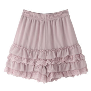 axes femme - 新品未使用タグ付き。axesfemmeポエティックフリルペチパンツ→ピンク
