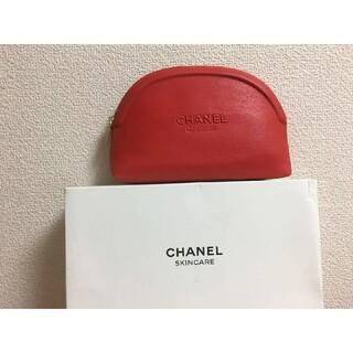 CHANEL - CHANEL限定ポーチ赤未使用レッド