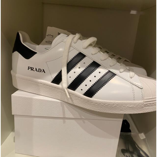 adidas(アディダス)のadidas x PRADA SUPERSTAR FW6680 UK9.5 28 メンズの靴/シューズ(スニーカー)の商品写真