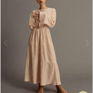 snidel - randeboo natural long dress