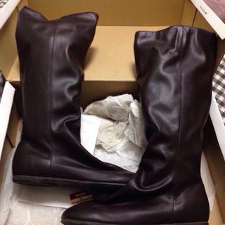 ムジルシリョウヒン(MUJI (無印良品))の無印 足なりニット付きブーツ(ブーツ)
