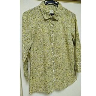 MARGARET HOWELL - J.CREWコットン七分袖シャツブラウス11号サイズ(Lサイズ)くらい柄物