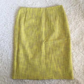エストネーション(ESTNATION)のエストネーション ESTNATION タイトスカート 黄色 サイズ40(ひざ丈スカート)