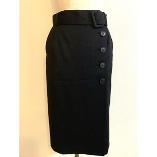 BOSCH - BOSCH 黒 ウール混 スカート ベルト付き