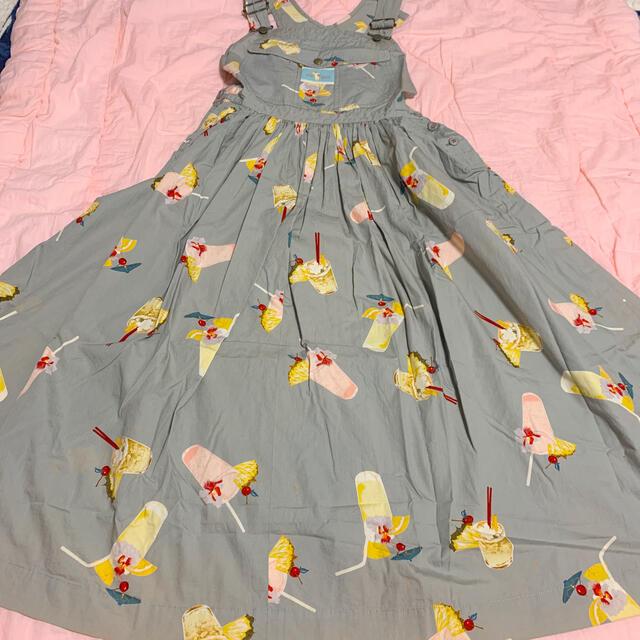 PINK HOUSE(ピンクハウス)のピンクハウス トロピカルジュース サロペット スカート  レディースのパンツ(サロペット/オーバーオール)の商品写真