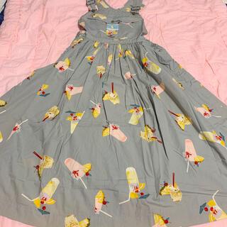 PINK HOUSE - ピンクハウス トロピカルジュース サロペット スカート