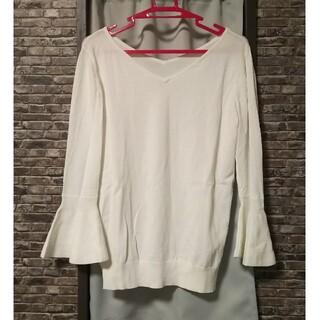 エージーバイアクアガール(AG by aquagirl)のホワイトニット(ニット/セーター)