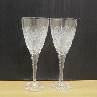 ボヘミア クリスタル(BOHEMIA Cristal)のBOHEMIA ボヘミア ペア ワイングラス カットグラス(グラス/カップ)