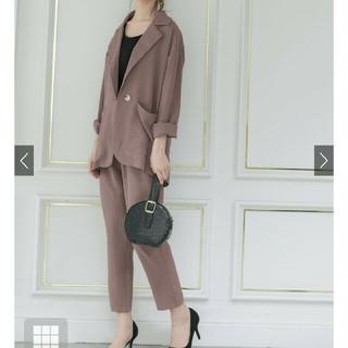 GRL - グレイル♡ジャケットXロングパンツセットアップ♡ベージュ♡新品タグ♡Sサイズ