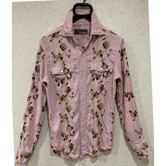 AYUITE(アユイテ)の*アユイテ AYUITE フラワー 刺繍 長袖 シャツ トップス メンズのトップス(シャツ)の商品写真