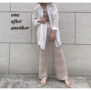 one after another NICE CLAUP - 新品 one after another ノーカラーシアーシャツ