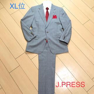 ジェイプレス(J.PRESS)の極美品★ジェイプレス×上質サマーウール◎高級グレー系チェック春夏スーツ A651(セットアップ)