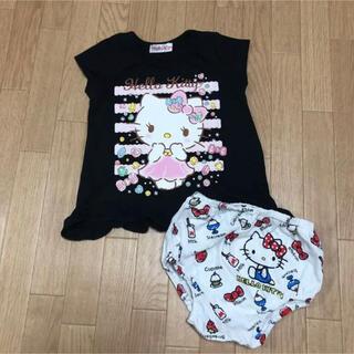 サンリオ - 90cm 花柄 インナーパンツ付き Tシャツ