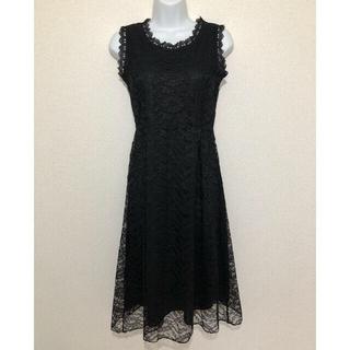 ワンピースドレス 黒(ミディアムドレス)