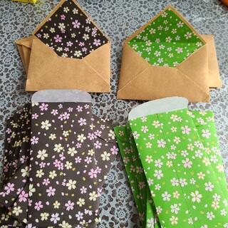 ポチ袋&ミニ封筒 桜(カード/レター/ラッピング)
