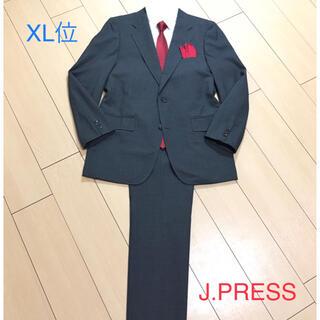 J.PRESS - 極美品★ジェイプレス×上質グレー春夏スーツ パンツ2本付き 背抜き 灰 A649