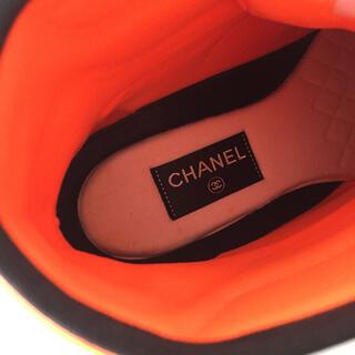 CHANEL - 【追加写真】美品 CHANEL ハイカット スニーカー 40.5