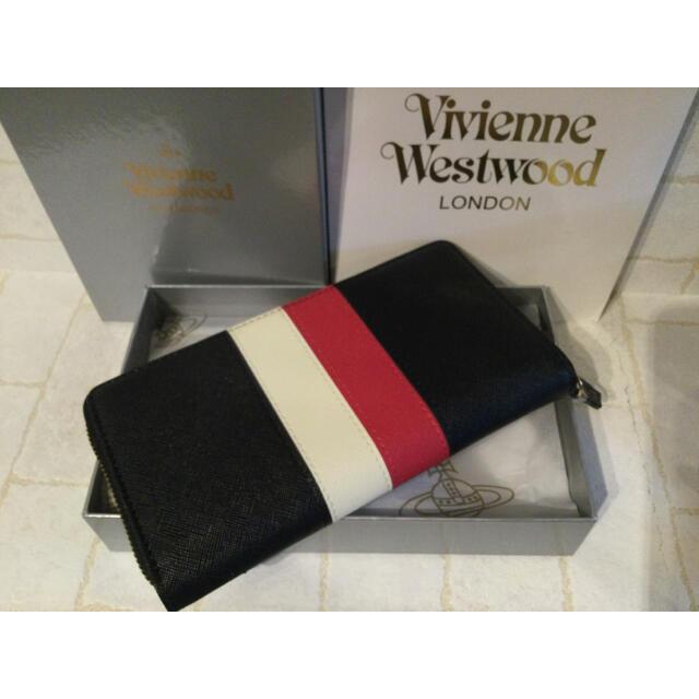 Vivienne Westwood(ヴィヴィアンウエストウッド)の新作 新品 Vivienne Westwood 長財布 ヴィヴィアン ストライプ レディースのファッション小物(財布)の商品写真