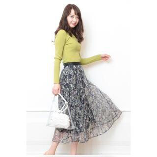 Mystrada - 新品未使用♡タグ付き♡マイストラーダ♡アートフラワープリーツスカート♡36