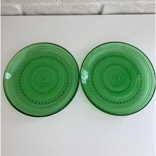 イッタラ(iittala)の⚠️ピー子様専用⚠️イッタラ カステヘルミ 美品 グリーン 廃盤 17cm(食器)