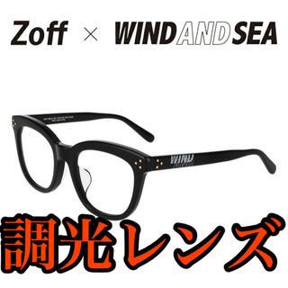 Zoff - Zoff×WIND AND SEA ウェリントン型 サングラス調光レンズ