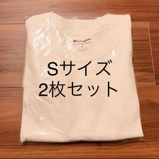 Champion - 【2枚セット】チャンピオン champion メンズ 半袖 Tシャツ 白T S