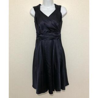 コムサイズム(COMME CA ISM)のコムサイズム COMMECA ISM ワンピース ドレス フォーマル/紺(ミディアムドレス)