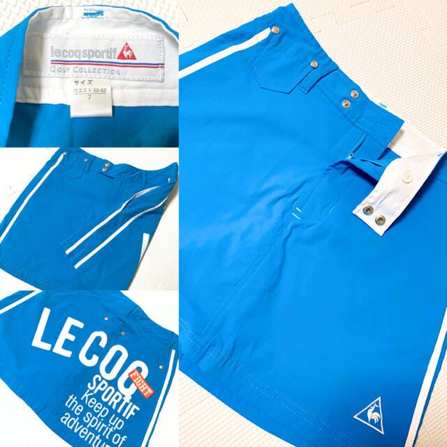 le coq sportif(ルコックスポルティフ)の美品! Lecoq  スカート インナーキュロット付き スポーツ ゴルフ女子 スポーツ/アウトドアのゴルフ(ウエア)の商品写真