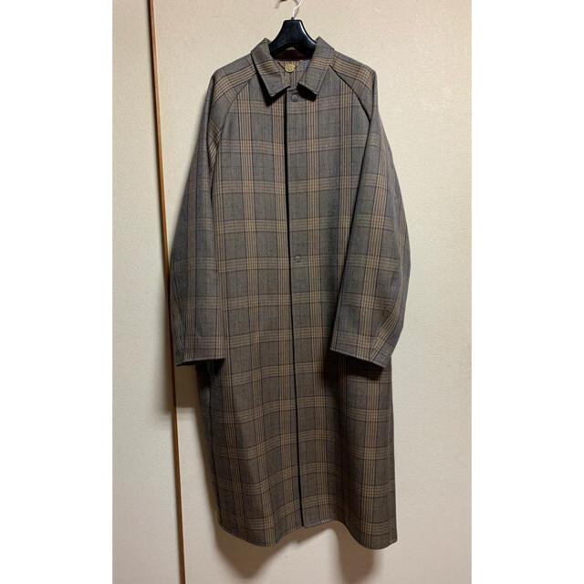 SUNSEA(サンシー)の即完売 SUNSEA   Caramel Check Coat サンシー メンズのジャケット/アウター(ステンカラーコート)の商品写真