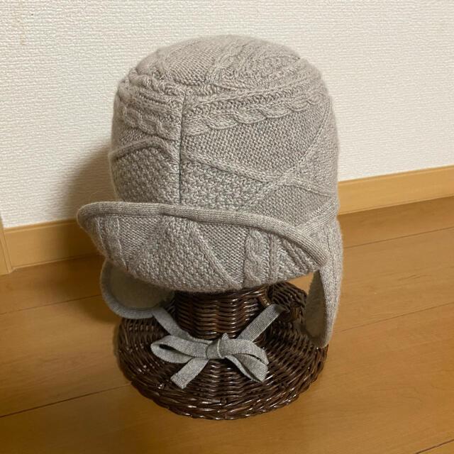 il by saori komatsu(アイエルバイサオリコマツ)のil by saori komatsu ニット帽 パイロット帽 レディースの帽子(ニット帽/ビーニー)の商品写真