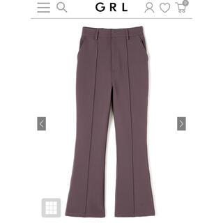 GRL - GRL♡新品♡フロントタックフレアパンツ モカS