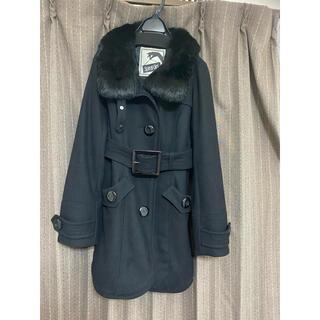 スパイラルガール(SPIRAL GIRL)の美品 スパイラルガール コート 黒(ロングコート)