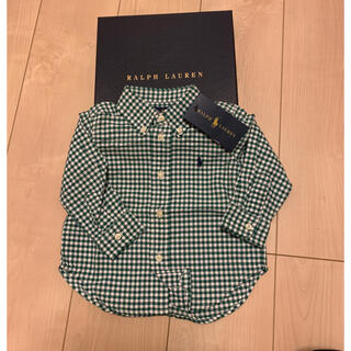 Ralph Lauren - 百貨店購入 新品未使用タグ付 ラルフローレン 長袖シャツ 80cm 12m