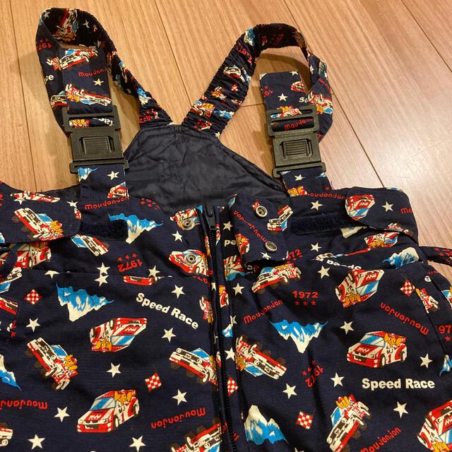 mou jon jon(ムージョンジョン)のサスペンダースノーズボン 男児100 スポーツ/アウトドアのスキー(ウエア)の商品写真