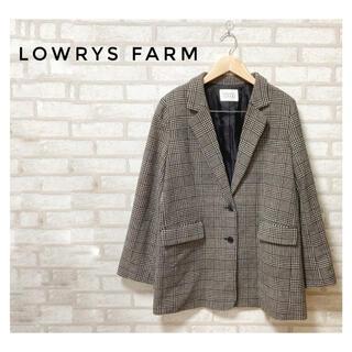 LOWRYS FARM - LOWRYS FARM レディーススプリングテーラードジャケットLグレンチェック