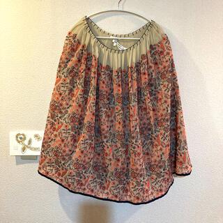 ミナペルホネン(mina perhonen)のミナペルホネン スカート celebrate  サイズ38(ひざ丈スカート)