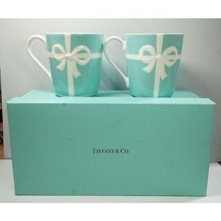 Tiffany & Co. - Tiffany & Co.  ティファニー ブルーボウマグ ペア 新品同様!