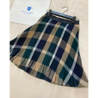 バーバリーブルーレーベル(BURBERRY BLUE LABEL)の美品 クレストブリッジ ブルーレーベル スカート プリーツ チェック(ひざ丈スカート)
