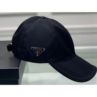 PRADA - PRADA キャップ ブラック ナイロン 帽子 プラダ
