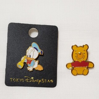 Disney - ドナルド プーさん ピンバッチセット