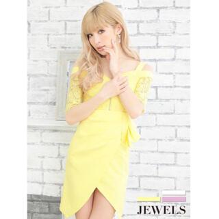 ジュエルズ(JEWELS)のJewels 新品 オフショル ミニドレス キャバドレス(ミニドレス)