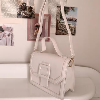 snidel - milky belt bag -white-
