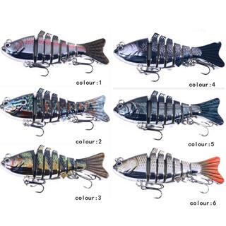 メタルジョイントルアー6個セット 淡水、海釣り リアルなルアー 擬似エサ