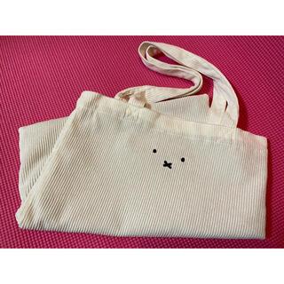 Avail - ミッフィー❤︎コーデュロイフェイス刺繍トートバッグ 白