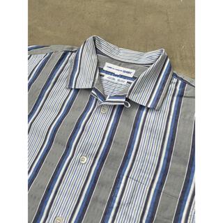 COMME des GARCONS HOMME PLUS - フランス製 コムデギャルソンシャツ オープンカラー ジャガード ストライプシャツ