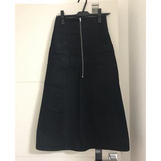 【steven alan】ブラック フロントチャックロングスカート